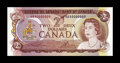 Canadian Currency: , BC-47aA-i $2 1974.. This replacement note with serial number ABX0000009 is believed to be the lowest replacement serial numb...
