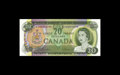 Canadian Currency: , BC-50aA $20 1969.. Bold embossing adorns this well preservedasterisk replacement note. Choice Crisp Uncirculated...