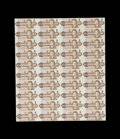 Canadian Currency: , $2 1986 Uncut Sheets of 40. Seven Examples. About Uncirculated..The following $2 1986 sheets are included in this lot BC-55...(Total: 7 sheets)