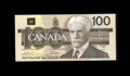 Canadian Currency: , BC-60a $100 1988.. Prominent embossing is observed on this well preserved $100. Gem Crisp Uncirculated....