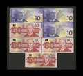 Canadian Currency: , BC-63aA (2); 63b $10 2000-1. BC-59a; 59aA; 59b; 59d $50 1988.. All seven notes grade Gem Crisp Uncirculated. The rep... (Total: 7 notes)
