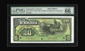 World Currency: , Venezuela 20 Bolivares Banco De Venezuela 1897 Pick S271s Specimen. ...
