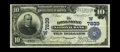 National Bank Notes:Colorado, Longmont, CO - $10 1902 Plain Back Fr. 625 The Longmont NB Ch. #(W)7839. A lovely pen signed large example that is nice...