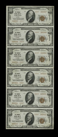 Chicago, IL - $10 1929 Ty. 2 The Lawndale NB Ch. # 10247 Uncut Sheet This Type Two $10 sheet has prominent embossing. T...