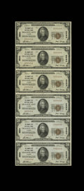 Granite City, IL - $20 1929 Ty. 1 The Granite City NB Ch. # 6564 Uncut Sheet A nice uncut sheet from this St. Louis sub...