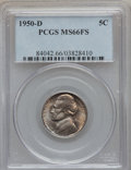 Jefferson Nickels: , 1950-D 5C MS66 Full Steps PCGS. PCGS Population (511/6). NGCCensus: (191/13). Numismedia Wsl. Price for problem free NGC/...