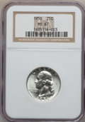 Washington Quarters: , 1956 25C MS67 NGC. NGC Census: (440/1). PCGS Population (103/1).Mintage: 44,100,000. Numismedia Wsl. Price for problem fre...