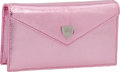 Luxury Accessories:Bags, Lana Marks Pink Metallic Lizard Small Concord Clutch. ...
