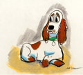 Animation Art:Production Drawing, Joe Grant Lady and the Tramp Concept Sketch Animation Art(Disney, 1955)....