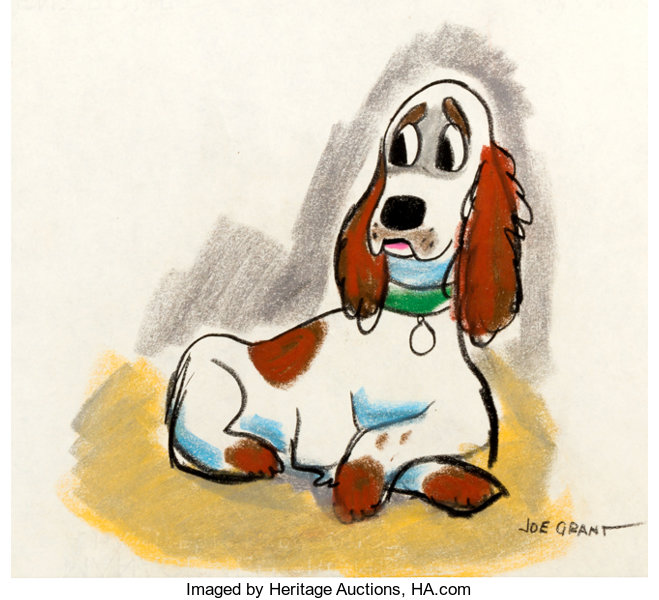 Joe Grant Lady And The Tramp Concept Sketch Animation Art Disney Lot 93499 Heritage Auctions