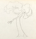 Animation Art:Production Drawing, Flowers and Trees Production Drawing Animation Art (Disney,1932)....