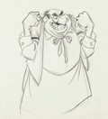 Animation Art:Production Drawing, John Lounsbery Lady and the Tramp Tony Production Drawing Animation Art (Disney, 1955)....