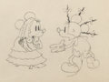 Animation Art:Production Drawing, Mickey's Mellerdrammer Minnie and Mickey Mouse ProductionDrawing Animation Art (Walt Disney, 1933)....