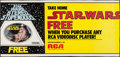 "Movie Posters:Science Fiction, Star Wars on RCA (RCA, 1982 & 1996). Posters (2) (24"" X 36""& 23.75"" X 49.5""). Science Fiction.. ... (Total: 2 Items)"