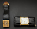 Timepieces:Other , Van Cleef & Arpels Wristwatch, Movado Ermeto With Calendar & Moon Phase, Jaeger LeCoultre Travel Alarm, Swiss Travel Alarm. ... (Total: 4 Items)
