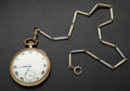 Timepieces:Pocket (post 1900), Waltham 14k Gold Riverside A With Gold Chain. ...
