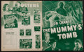 "Movie Posters:Horror, The Mummy's Tomb (Universal, 1942 / Realart, R-1948). UncutPressbooks (2) (Multiple Pages, 11.5"" X 14"" & 11"" x 17""). Ho...(Total: 2 Items)"