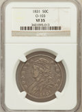 Bust Half Dollars, 1831 50C VF35 NGC. O-103. NGC Census: (46/1390). PCGS Population(82/1538). Mintage: 5,873,660. Numismedia Wsl. Price for p...