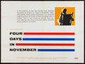 "Movie Posters:Documentary, Four Days in November (United Artists, 1964). British Quad (30"" X 40""). Documentary.. ..."
