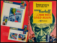 """The Man Who Lived Again (Gaumont, 1936). Uncut Pressbook (20 Pages) (12"""" X 18""""). Horror"""