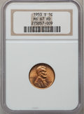 Lincoln Cents: , 1953-S 1C MS67 Red NGC. NGC Census: (430/0). PCGS Population(103/0). Mintage: 181,835,008. Numismedia Wsl. Price for probl...