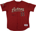 Baseball Collectibles:Uniforms, Roger Clemens Signed Houston Astros Jersey. ...