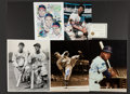 Autographs:Photos, Baseball Greats Oversized Signed Photographs Lot Of 4....