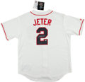 Baseball Collectibles:Uniforms, Derek Jeter Signed New York Yankees Jersey. ...