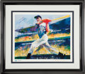 Baseball Collectibles:Others, 1998 Joe DiMaggio & Leroy Neiman Signed Print. ...