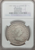 Early Dollars, 1797 $1 9x7 Stars, Large Letters -- Damaged -- NGC Details. VF.B-3, BB-71, R.3....