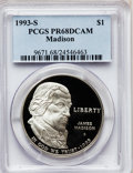 Modern Issues: , 1993-S $1 Bill of Rights Silver Dollar PR68 Deep Cameo PCGS. PCGSPopulation (226/2230). NGC Census: (67/1713). Mintage: 53...