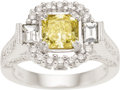Estate Jewelry:Rings, Fancy Colored Diamond, Diamond, Gold Ring. ...