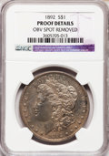 Proof Morgan Dollars, 1892 $1 -- Obverse Spot Removed -- NGC Details. Proof....