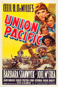 "Movie Posters:Western, Union Pacific (Paramount, 1939). One Sheet (27"" X 41"").. ..."