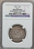 Bust Quarters: , 1821 25C -- Improperly Cleaned -- NGC Details. Fine. B-3. NGCCensus: (6/183). PCGS Population (19/220). Mintage: 216,851....