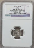 Bust Half Dimes: , 1831 H10C -- Improperly Cleaned -- NGC Details. AU. LM-6. NGCCensus: (11/634). PCGS Population (50/568). Mintage: 1,200,0...