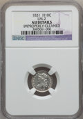 Bust Half Dimes: , 1831 H10C -- Improperly Cleaned -- NGC Details. AU. LM-2. NGCCensus: (11/634). PCGS Population (50/568). Mintage: 1,200,0...