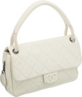 Luxury Accessories:Bags, Chanel Cream Caviar Leather Flap Bag with Rope Handle. ...