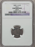 Early Half Dimes: , 1805 H10C -- Bent -- NGC Details. Fair. LM-1. NGC Census: (2/22).PCGS Population (0/58). Mintage: 15,600. Numismedia Wsl....
