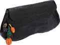 Luxury Accessories:Bags, Nancy Gonzalez Black Shiny Crocodile Clutch with Fruit Charms. ...