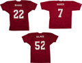 Football Collectibles:Uniforms, Alabama Greats Signed Football Jersey - Lot of 3. ...