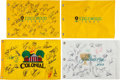 Autographs:Others, 2000's Signed Golf Flag - Lot of 4. ...