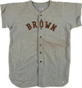 Baseball Collectibles:Uniforms, 1950s Brown #15 Game Worn Flannel Jersey. ...