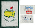 Golf Collectibles:Autographs, Masters Signed Oversized Banner and Signed Golf Flag....