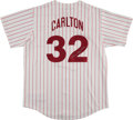 Baseball Collectibles:Uniforms, Steve Carlton Signed Philadelphia Phillies Jersey. ...