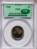 Proof Liberty Nickels: , 1898 5C PR65 PCGS. CAC. PCGS Population (94/24). NGC Census:(103/51). Mintage: 1,795. Numismedia Wsl. Price for problem fr...