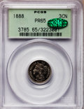Proof Three Cent Nickels: , 1888 3CN PR65 PCGS. CAC. PCGS Population (402/192). NGC Census:(365/181). Mintage: 4,582. Numismedia Wsl. Price for proble...