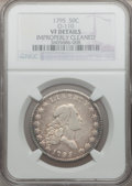 Early Half Dollars, 1795 50C 2 Leaves -- Improperly Cleaned -- NGC Details. VF. O-110,R.3....