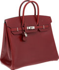 Luxury Accessories:Bags, Hermes 36cm Rouge H Calf Box Leather HAC Birkin Bag with PalladiumHardware. ...