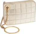 Luxury Accessories:Bags, Chanel Metallic Gold Quilted Leather Wristlet. ...